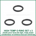 Set de 3 Joints High Temp O-Rings pour Tip du vaporisateur DynaVap