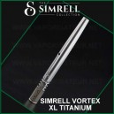Simrell Titanium Vortex XL stem en titane refroidisseur de vapeur pour DynaVap