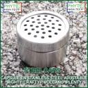 SteelCaps - Capsule doseuse en stainless steel ajustable pour vaporisateurs Mighty ou Crafty Plus