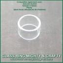 Glass Ring Mighty et Crafty Plus - réducteur de chambre de remplissage en verre microdosing