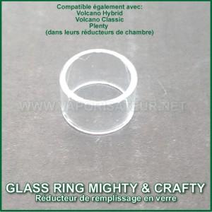 Glass Ring Mighty et Crafty - réducteur de chambre en verre microdosing