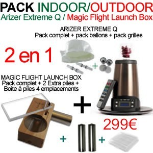 Pack Indoor Outdoor Arizer Extreme Q V5.0/Magic Flight Launch Box
