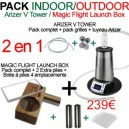 Pack Indoor/Outdoor Arizer V Tower/Magic Flight Launch Box