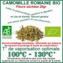Herbe médicinale à vaporiser Camomille Bio fleurs séchées 30gr
