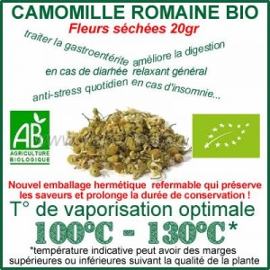 Camomille Bio fleurs séchées 20gr