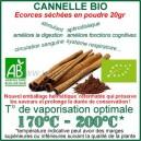 Cannelle écorces biologique certifié Ecocert sachet 20gr