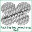Pack 5 grilles-filtres de rechange vaporisateur Puffit