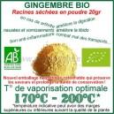 Gingembre Bio Ecocert en poudre 20gr avec vaporisateur