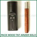 Pack Wood TNT Vaporisateur Portable Arizer Solo et l'embout en bois Ed's TNT