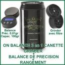 On Balance canette accessoires vapo 3 en 1 - grinder-balance-boite à herbes