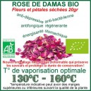 Pétales séchées 20gr de la Rose de Damas Bio à vaporiser