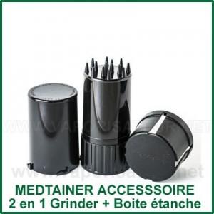Medtainer 2 en 1 - boite étanche et grinder