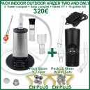 Pack ECO vaporisateurs Indoor Outdoor Arizer Two and Only - Solo et V Tower