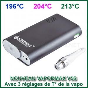 Vapormax Flowermate V5S - 3 niveaux de chauffe