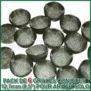 6 grilles coniques en acier 12,7mm pour vapo Arizer Solo
