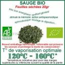 Herbe médicinale en inhalation avec vaporisateur Sauge Bio feuilles séchés