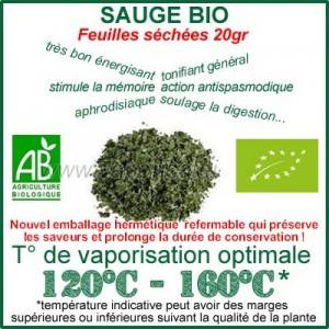 Sauge Bio feuilles séchées 20gr