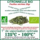 Herbe médicinale Citronnelle Bio herbe médicinale séchée 40gr