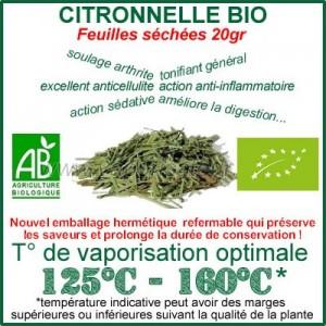 Citronnelle Bio plante séchée 20gr