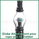 Globe Glass Attachement en verre avec résistance Dr Dabber