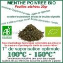 Vaporiser Menthe Poivrée Bio en Feuilles séchées avec vaporisateur