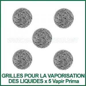 Grilles pour concentrés liquides x 5 pour Prima Vapir