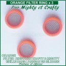Grille Orange Filter Ring x 3 pour Crafty et Mighty