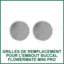 Grilles d'embout buccal x 2 pour vaporisateur Mini Pro Flowermate