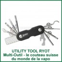 Multi-accessoire vaporizer tout en un Utility Tool RYOT