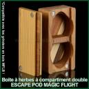 Escape Pod Magic Flight Launch Box - boite à plantes médicinales en bois