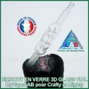 Embout buccal en verre 3D Glass Vial Mighty et Crafty
