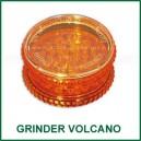 Moulin à herbes Volcano deux pièces plastique couleur orange