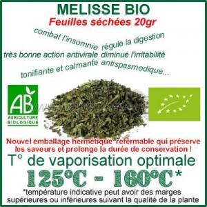 Mélisse Bio feuilles séchées 20gr