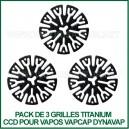 Kit de 3 grilles Titanium CCD VapCap DynaVap