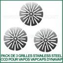 Kit de 3 filtres Stainless Steel CCD VapCap DynaVap