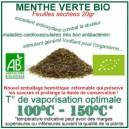 Herbe médicinale à vaporiser Menthe Verte Menthe Nannah Bio feuilles séchées
