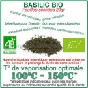 Basilic Bio feuilles séchées à vaporiser 20gr