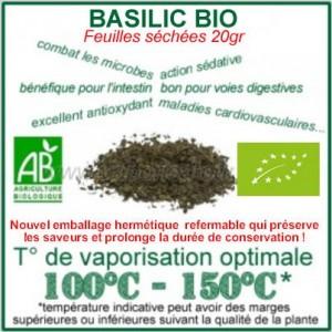 Basilic Bio Ecocert feuilles séchées 20gr