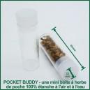 Pocket Buddy petite boite à herbes étanche à l'air et à l'eau
