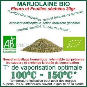Marjolaine Bio Ecocert feuilles et fleurs séchées 20gr