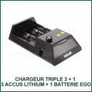 Chargeur Triple CC1 MXJO 3 accus lithium et batterie EGO