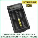 Chargeur Intelligent USB 2 accus lithium Nitecore UM20