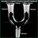 Connectique double 2 vapos et WP 14mm