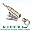 Mini MultiTool 4 en 1 outil polyvalent pour vaporisateur