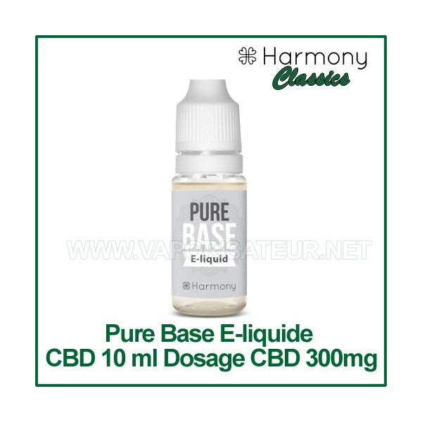 e liquide cbd harmony pure base l 39 e liquide base cbd pour m langes diy. Black Bedroom Furniture Sets. Home Design Ideas