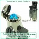 Briquet torche triple flamme Tri Flame Power pour vaporisateur VapCap