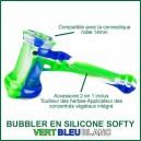 Filtre de vapeur H2O en silicone Softy bleu, vert, blanc