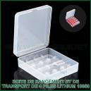 Boite plastique de rangement de 4 accus lithium 18650