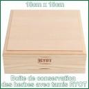 Boite grande RYOT en bois avec tamis à pollen 18cm x 18cm