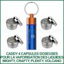 Caddy 4 capsules doseuses avec 4 grilles pour huiles CBD